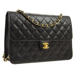 CHANEL Quilted Classic  Single Chain Shoulder Bag
